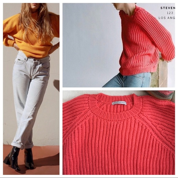 New Chunky Knit Sweater Merino Wool